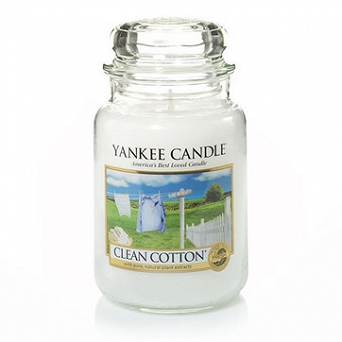 Yankee Clean Cotton Słoik Duży 623g
